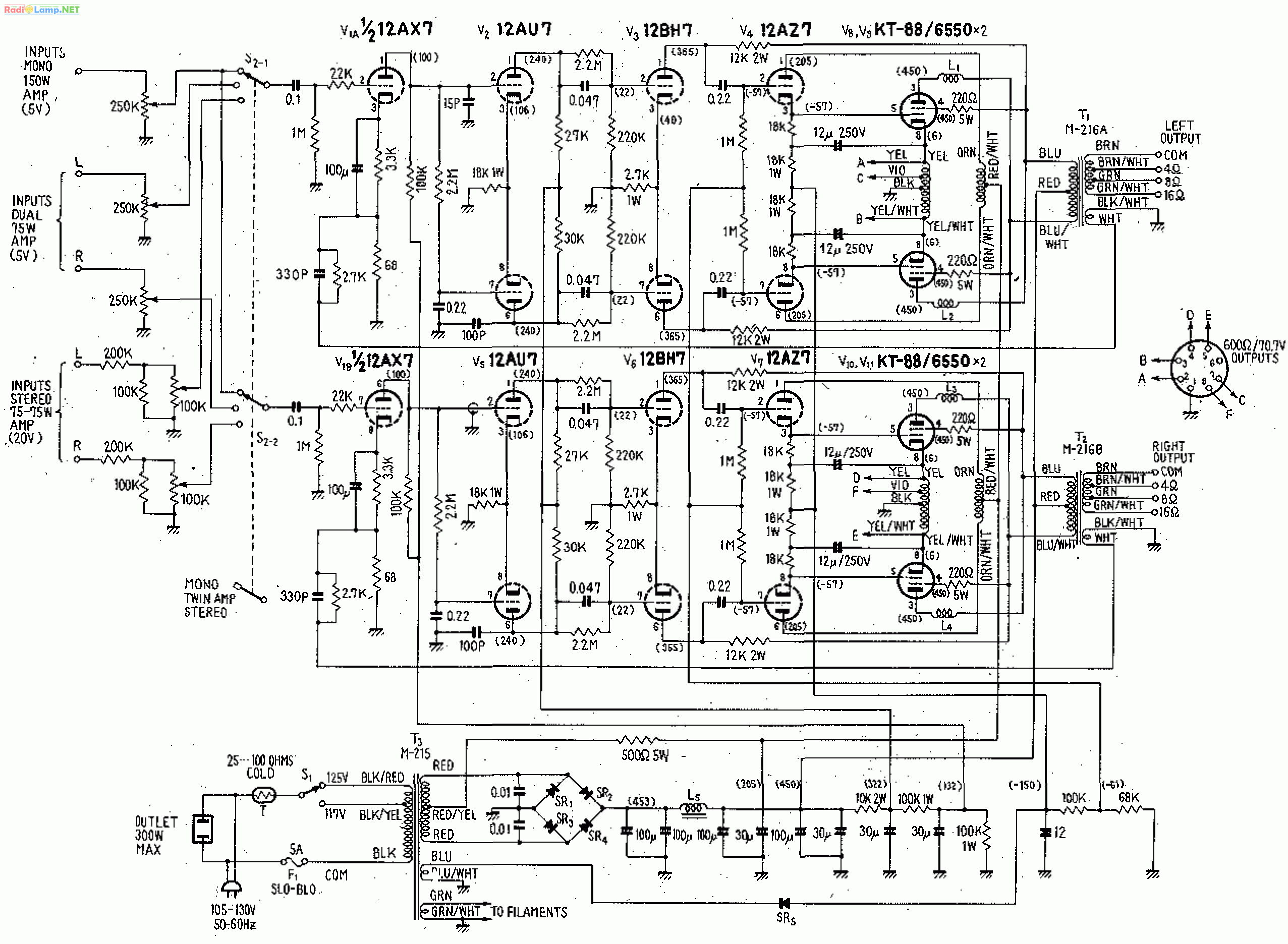 833 Tube Amplifier Schematic