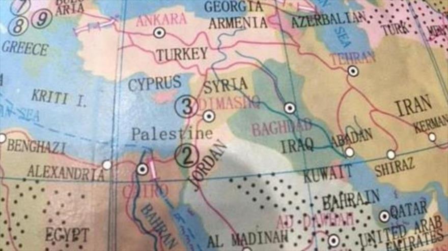 La empresa australiana Typo borró el nombre de Israel del mapamundi - mapamundi