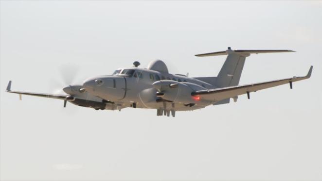 Un avión Emarss (Sistema Avanzado de Vigilancia y Reconocimiento de Media Altitud) de EE.UU.