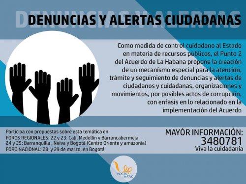 Implementar los acuerdos de paz. Participa en los foros regionales - 2