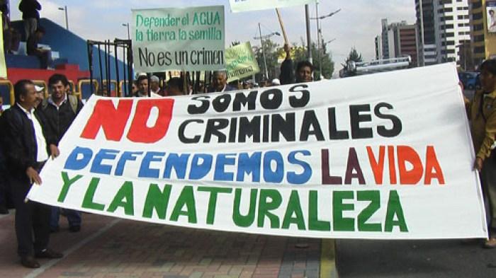 INFORME: Colombia un país peligroso para la defensa de la tierra y el ambiente - criminalizacionecuador