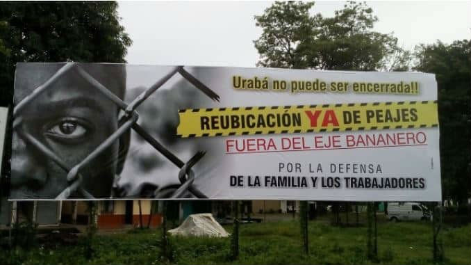 Triunfa la protesta, Gobierno suspende el cobro de peajes en Urabá - Protesta_Uraba