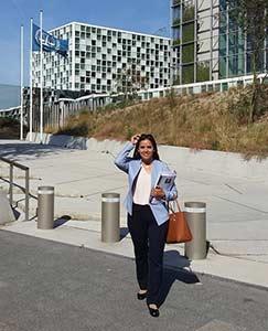 Tamara Sujú ante la Corte Penal Internacional de La Haya