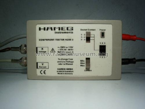 Component Tester HZ65-3 Equipment HAMEG GmbH, Frankfurt, Bui