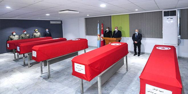 رئيس الجمهورية يؤبّن شهداء تونس.