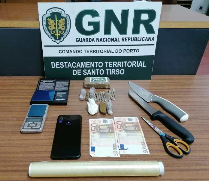 Detido em flagrante com 282 doses de haxixe na Póvoa de Varzim