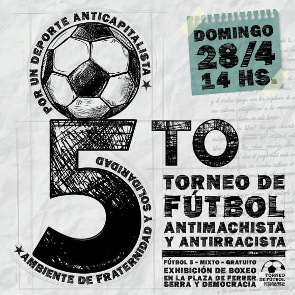 5to torneo antimachista y antirrascista