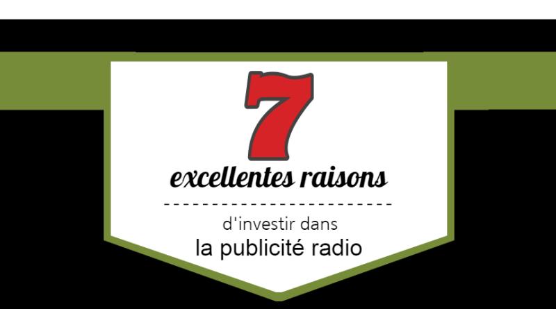 7 excellentes raisons d'investir dans la publicité radiophonique