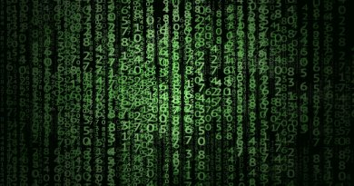 Série de chiffres dans le style de Matrix