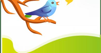 L'oiseau Twitter qui converse sur une branche