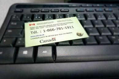 Le numéro pour joindre le point de service du CRTC destiné aux petites entreprises