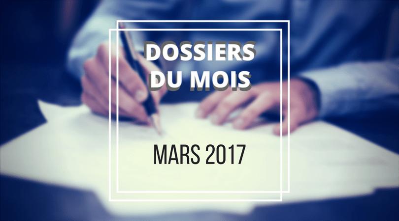 Dossiers du mois de mars 2017 à l'ARC du Canada