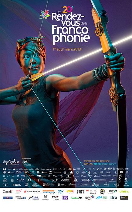 Affiche officielle des Rendez-vous de la Francophonie 2018