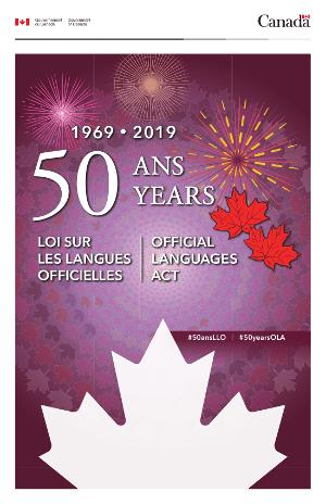 50e anniversaire de la Loi sur les langues officielles