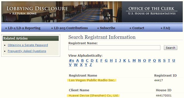 Le registre public des lobbyistes inscrits