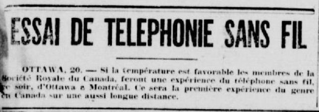 Extrait du journal La Patrie (20 mai 1920)