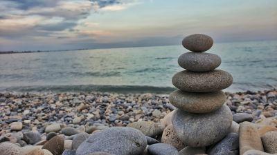 Des pierres empilées