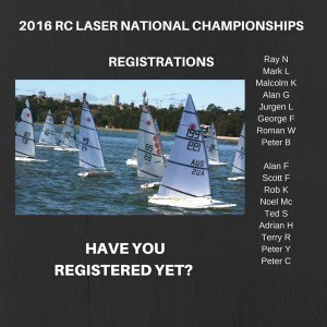 Register for the 2016 RC Laser National Championships
