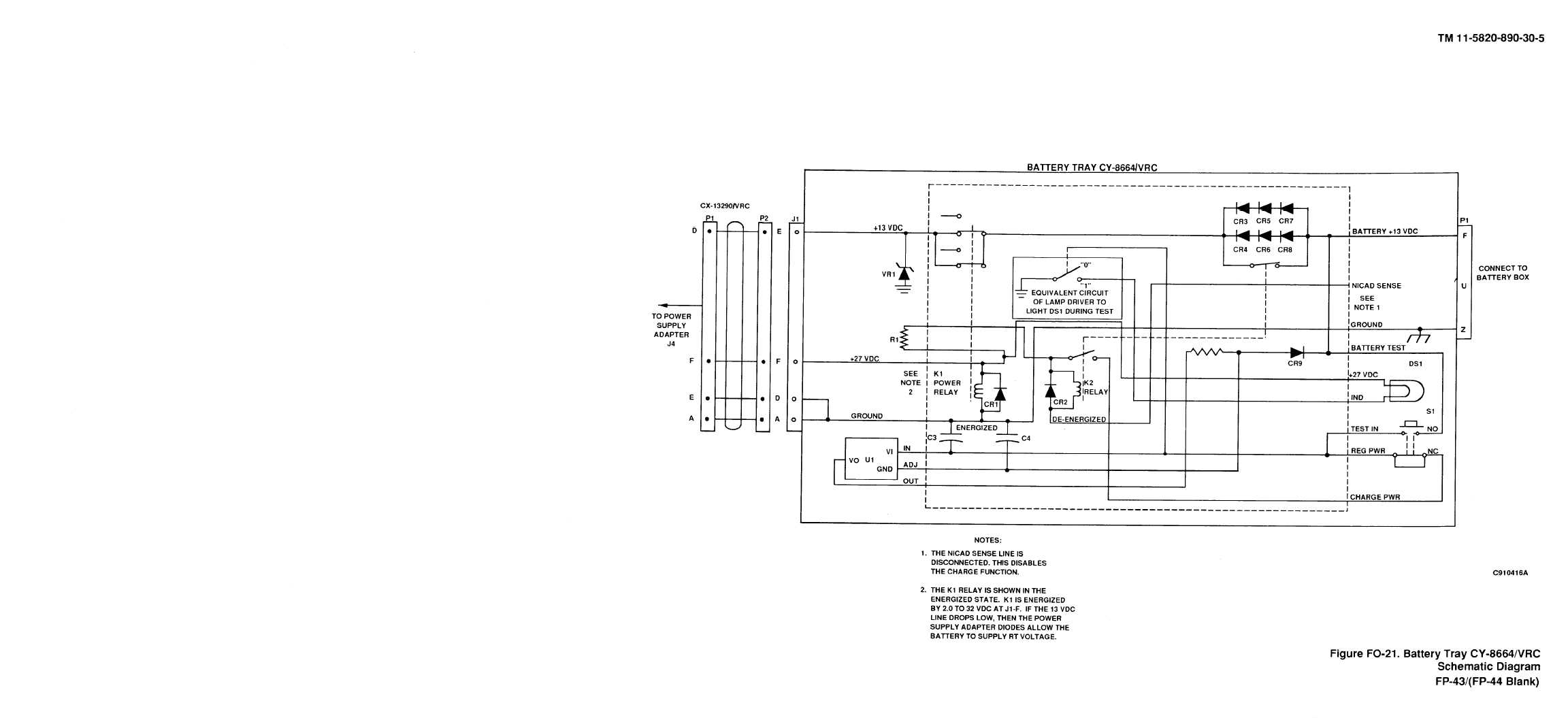 Figure Fo 21 Battery Tray Cy Vrc Schematic Diagram