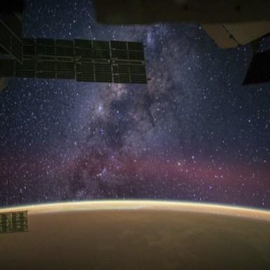 صورة لمجرة درب التبانة من على متن محطة الفضاء الدولية
