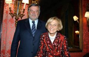 Il Gran Maestro Gustavo Raffi con Emma Bonino