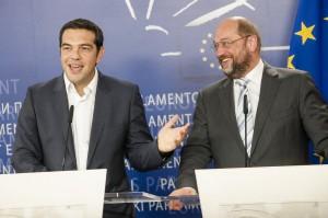 Martin SCHULZ, EP President,  Alexis TSIPRAS