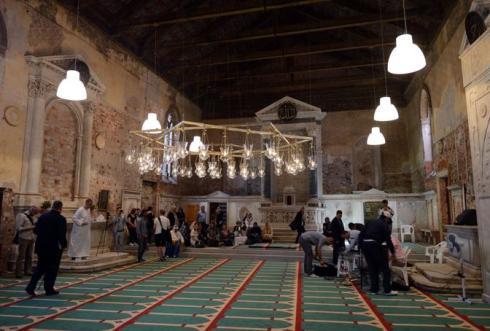 Biennale, Il padiglione Islandese, la moschea della misericordia.