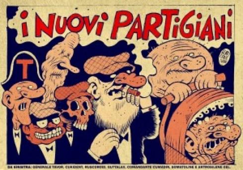 I NUOVI PARTIGIANI Vignetta promozionale LOW