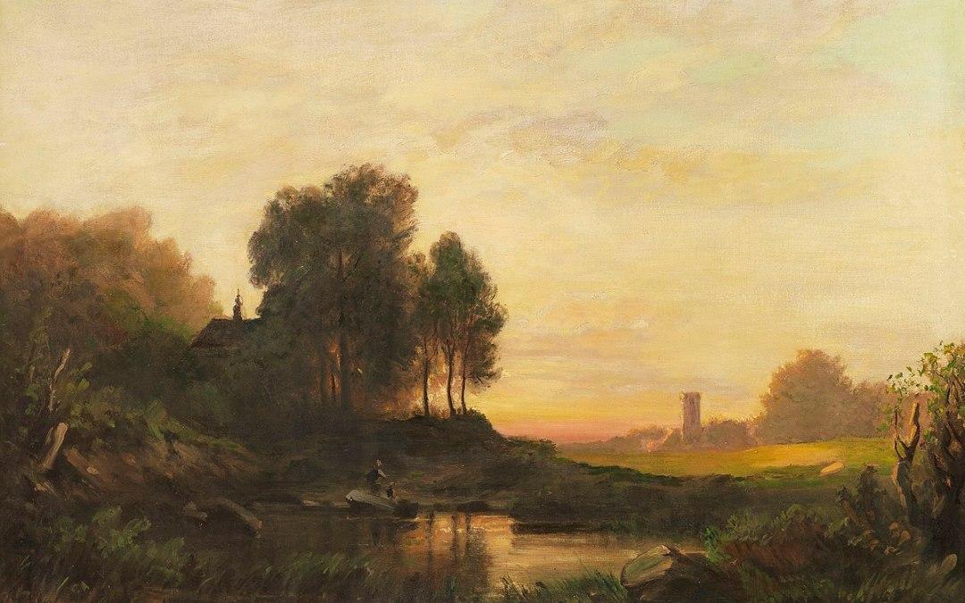 August Seidel: Abendlandschaft, c.1895