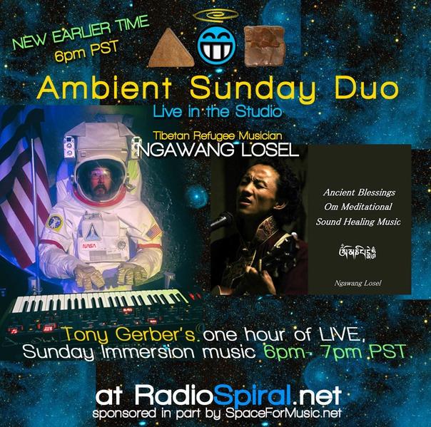 Ambient Sunday Duo Tonight at 6pm PST: w/Ngawang Losel