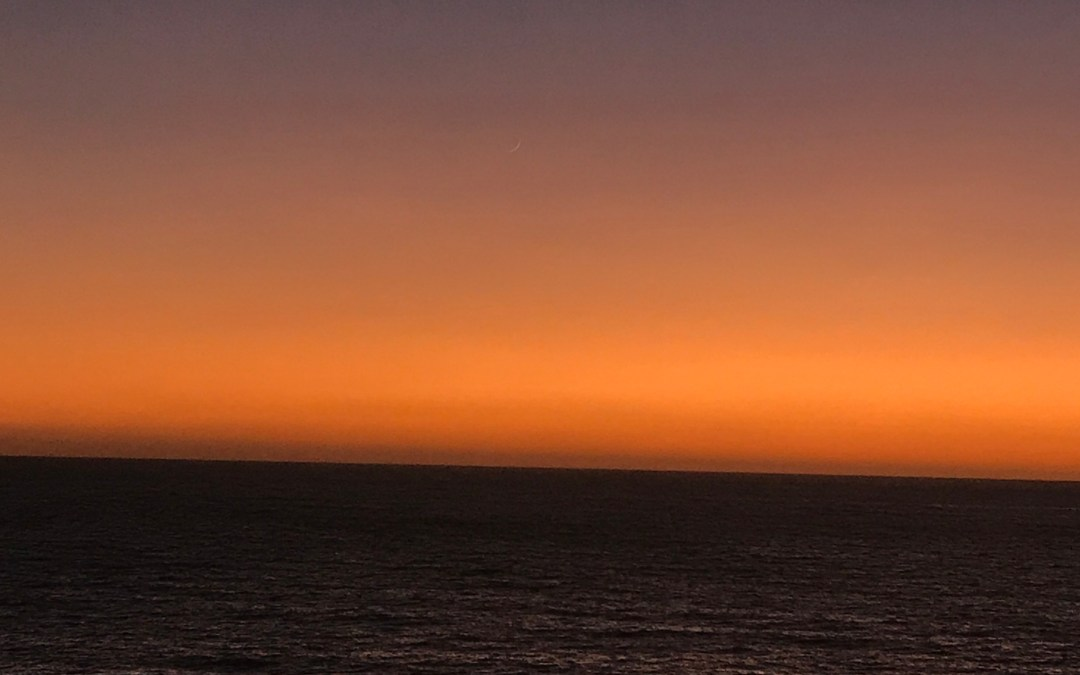 Late Sunset on the Pacific Ocean, Redondo Beach California