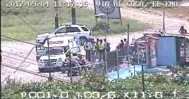 A través de la línea única para emergencia 9-1-1 dio se alertó de un accidente de tránsito en el ingreso de una localidad turística en El Eno - Lago Agrio