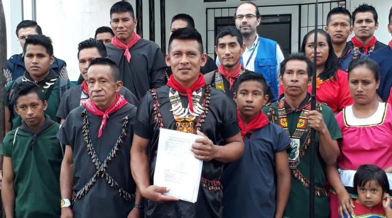 Comunidad Ai Cofan Sinangoe presentó el pedido de acción de protección