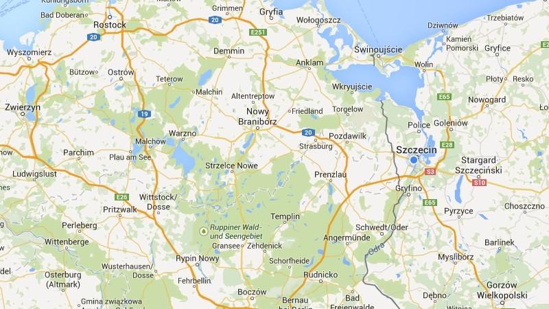 Stare słowiańskie nazwy na mapach Google