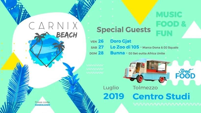 A Tolmezzo arriva lo Street Food – Carnix Beach 2019