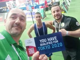 صورة تأهل الملاكمين فليسي ولموشي وبن شبلة لأولمبياد طوكيو 2020