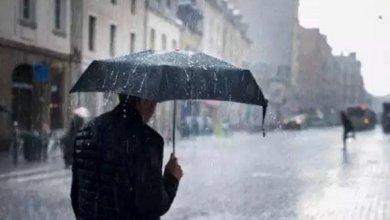 صورة أمطار رعدية على مناطق غرب و وسط الوطن ابتداء من نهاية يوم الاثنين