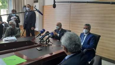 صورة تصريح رئيس الجمهورية السيد عبد المجيد تبون للصحافة على هامش الزيارة التي قادته إلى مستشفى  بني مسوس و الصيدلية المركزية للمستشفيات
