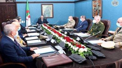 صورة رئيس الجمهورية يترأس اجتماعا للمجلس الأعلى للأمن حول تطورات وباء كوفيد-19