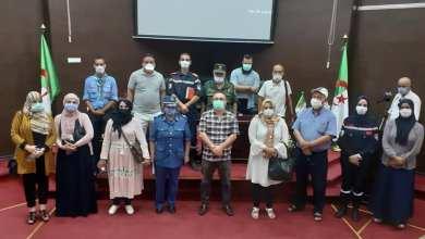 صورة يوم دراسي حول وباء COVid19 بالمعهد الوطني للتكوين العالي شبه الطبي