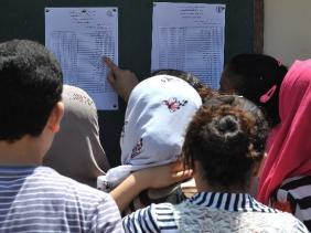 صورة امتحان شهادة التعليم المتوسط :90.61 بالمائة من التلاميذ انتقلوا إلى السنة الأولى ثانوي