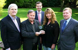 Pictured l/r Manus O'Callaghan, Awards Organiser; John Cahill, Cork Person of the Month; John Lehane, Lexus Cork (Sponsor); JoAnn Cahill, Pat Lemasney, Southern (Sponsor). Picture: Tony O'Connell Photography.