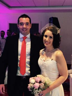 Nigel and Ann-Marie - the bride and groom (Pic: Facebook/iRadio)