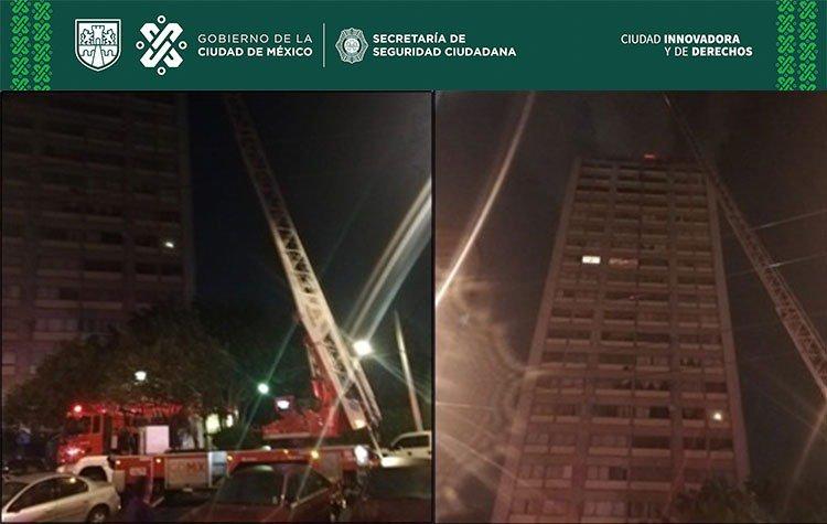 MÁS DE 300 PERSONAS FUERON EVACUADAS TRAS UN INCENDIO EN EDIFICIO DE TLALTELOLCO