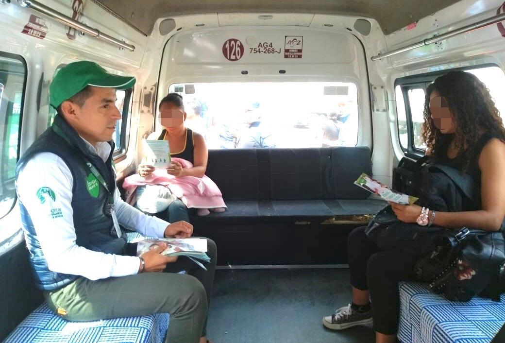 SE SUMA CODHEM A OPERATIVOS CONTRA LA VIOLENCIA DE GÉNERO EN EL TRANSPORTE PÚBLICO