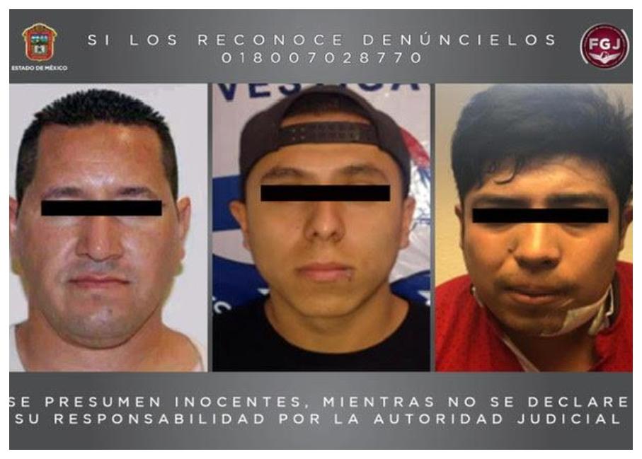 INICIAN PROCESO LEGAL EN CONTRA DE TRES PROBABLES HOMICIDAS