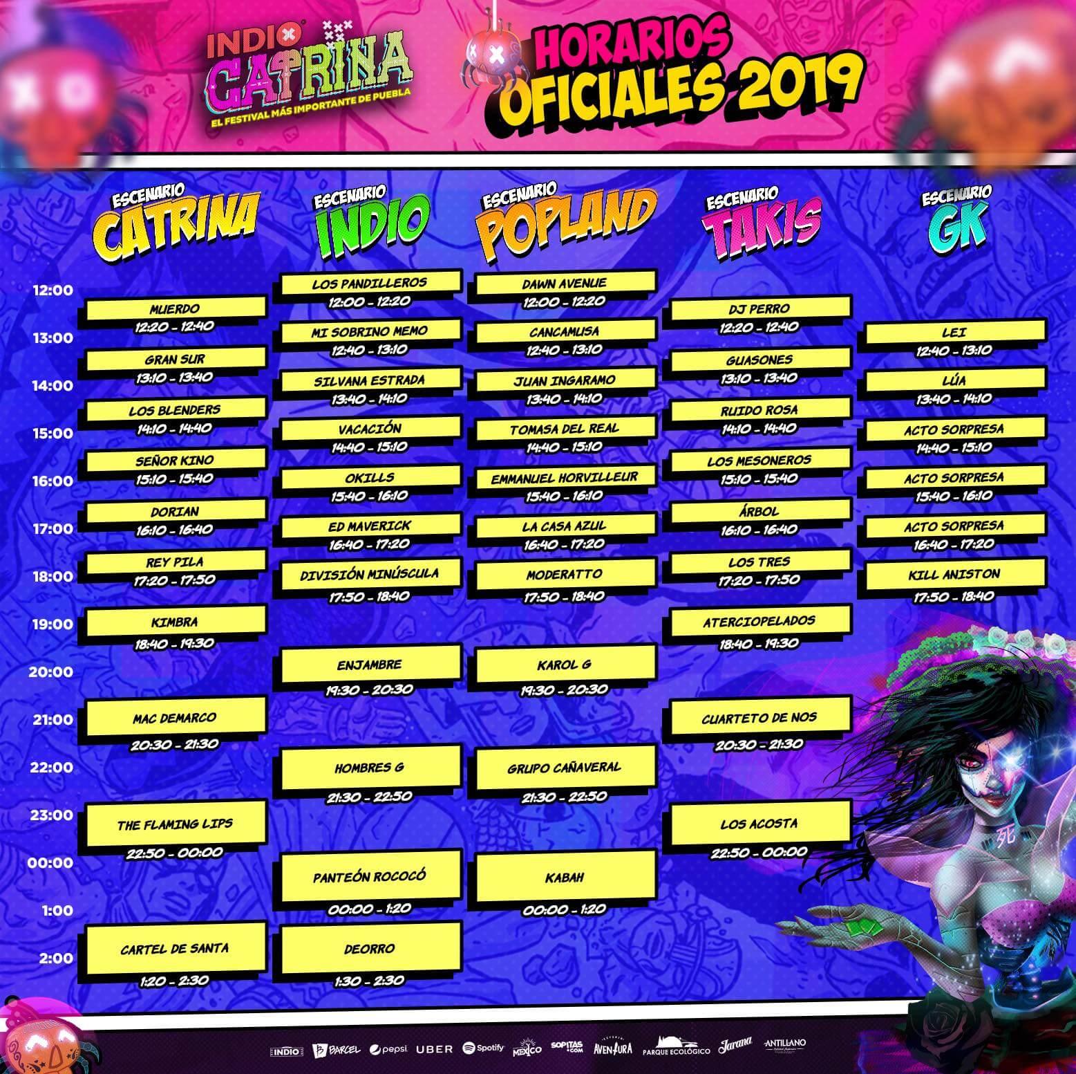 """LAS 5 IMPERDIBLES DE """"CATRINA 2019"""""""