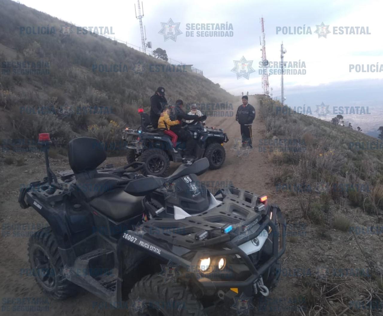 SECRETARÍA DE SEGURIDAD BRINDÓ AUXILIO A MENOR EN EL NEVADO DE TOLUCA