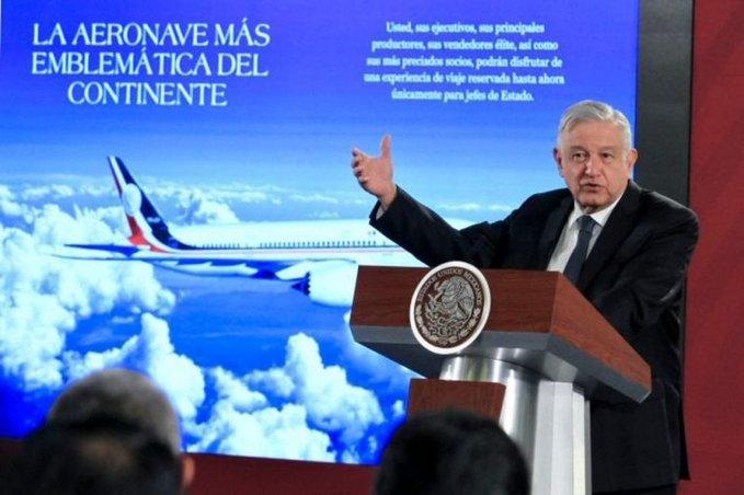 PROPONE AMLO RIFAR EN LA LOTERÍA NACIONAL EL AVIÓN PRESIDENCIAL