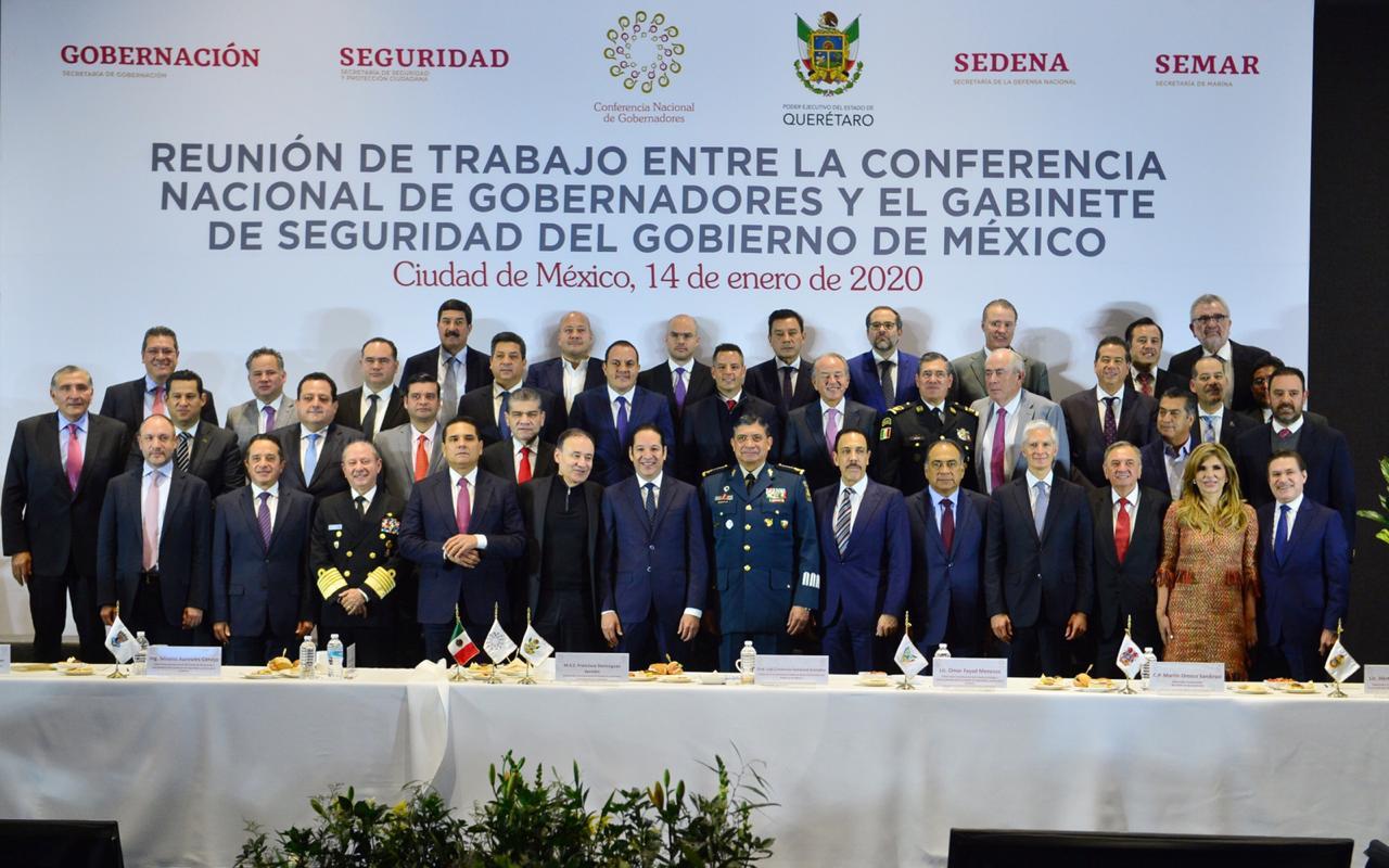 ASISTE ALFREDO DEL MAZO A REUNIÓN DE CONAGO Y GABINETE DE SEGURIDAD DEL GOBIERNO DE MÉXICO